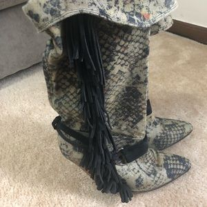 Isabel marant phyton boots